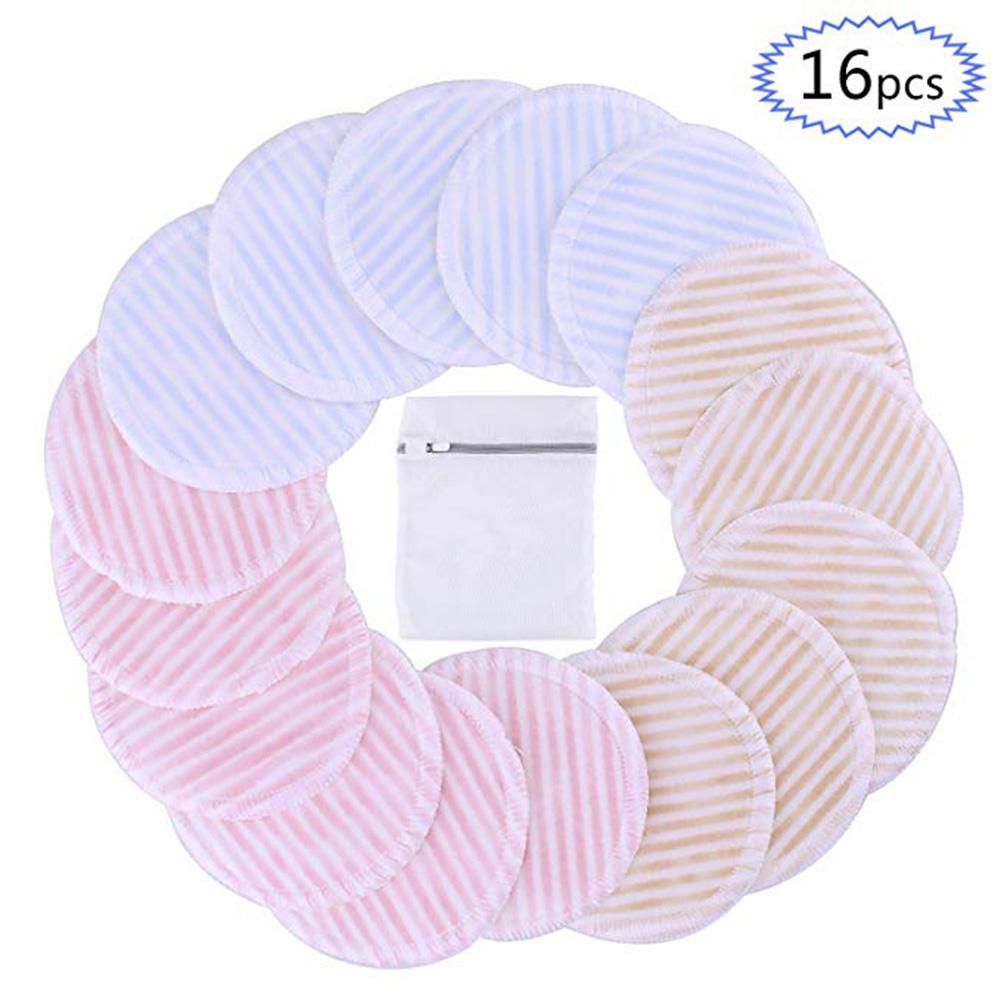 16Packs Of Three-layer Velvet Reusable Makeup Remover Pad Makeup Remover Wipes Washable Towel Washable Makeup Remover Cotton 35P