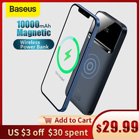Baseus 20W 10000mAh Display digitale magnetico Wireless a ricarica rapida per iPhone 11 12 Huawei Xiaomi Samsung