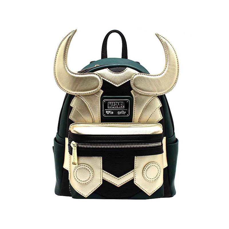 Loki Faux Leather Mini Backpack Loungefli Marvel Series Standard Loki Fashion Backpacks For School