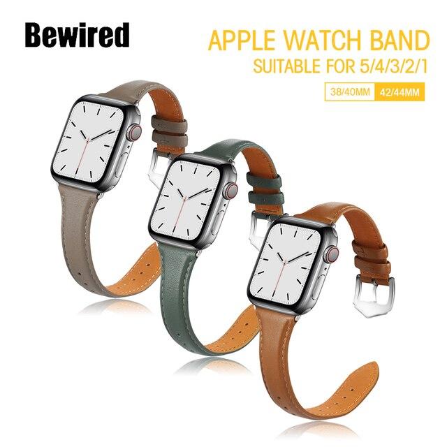 Ремешок для часов из натуральной кожи apple watch se 6/5/4/3/2/1