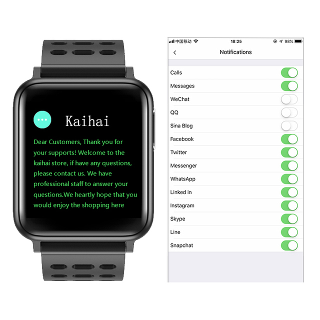 KAIHAI ECG PPG SpO2 activity tracker fitness watches smart watch men blood pressure Heart rate monitor oxygen health smartwatch