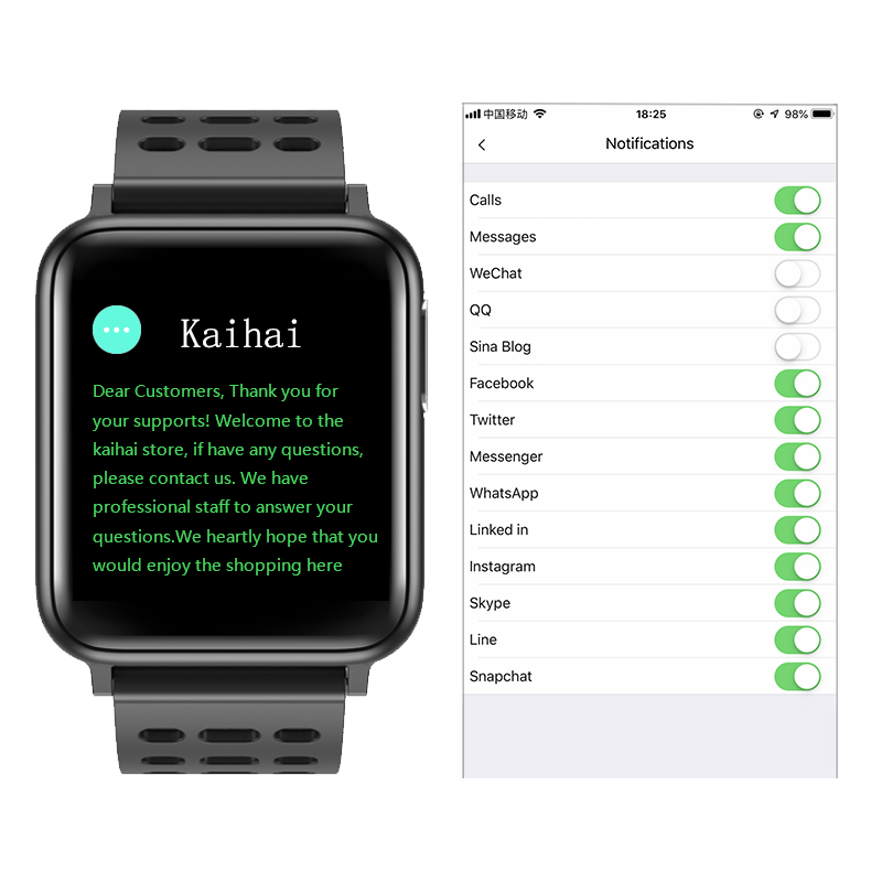 Image 2 - KAIHAI H69 ECG PPG SpO2 HRV fitness health smart watch men electronic blood pressure measurement Heart rate monitor smartwatch-in Smart Watches from Consumer Electronics