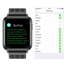"KAIHAI אק""ג PPG SpO2 פעילות tracker כושר שעונים חכם שעון גברים לחץ דם קצב לב צג חמצן בריאות smartwatch"