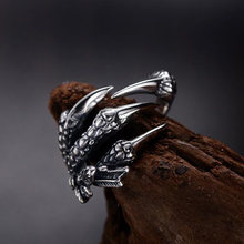 Кольцо в стиле панк рок унисекс Женское и мужское регулируемое