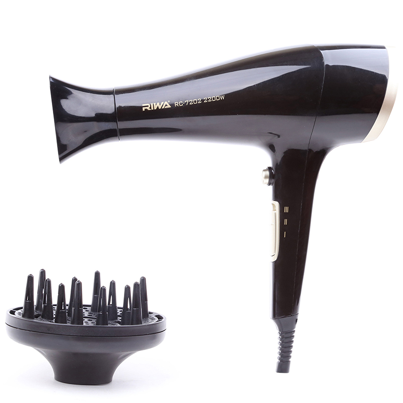 Professional Hair Dryer Blower Hot Cold Wind Negative Ionic Blow Dryer Supreme Powerful 2200 Watte RC-7202