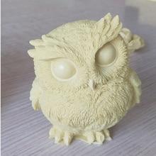 Candle-Molds Soap Cake-Decorating-Tools Plaster Aromatherapy-Making-Mould Handmade Owl-Shape