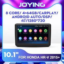10.1 inç IPS ekran Octa çekirdek android 8.1 araba DVD OYNATICI Stereo GPS multimedya Honda Vezel/HR-V/XRV 2015 kafa ünitesi DSP FM