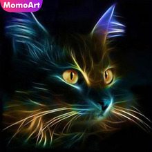 MomoArt 5D Diamond Painting Animal Cat Full Square Embroidery Diy Mosaic Picture Of Rhinestone