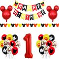 Микки Маус вечерние шар тема детский день рождения торт баннер набор воздушных шариков с Микки и Минни; Одежда для дня рождения, вечерние Де...