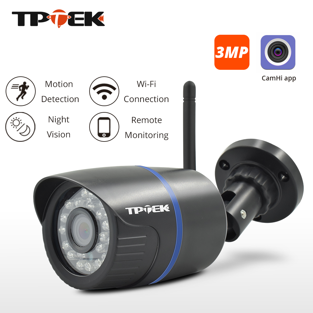 3MP IP Camera WiFi Outdoor Security Camera 1080P Wi Fi Surveillance Wireless Wired 720P Wi-Fi CCTV Waterproof Onvif CamHi Camara
