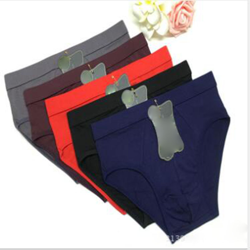 Men's Underwear Modal Solid Color Men Briefs Mid Waist Breathable Mens Underwear Briefs Sexy Comfortable Briefs