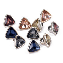 12mm Triangular Plastic Colored Sewing Buttons For Clothes Decorative Button Rhinestone Children Women Shirt Blouse Needlework