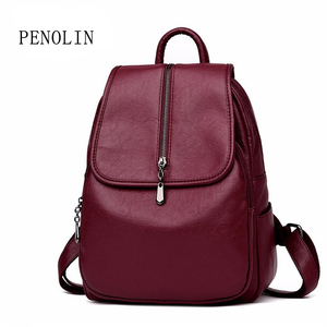 Image 4 - 2018 Women Backpack High Quality Leisure Rucksack PU Leather Mochila Mother Vintage Bags Top handle Backpacks Fashion Daypack