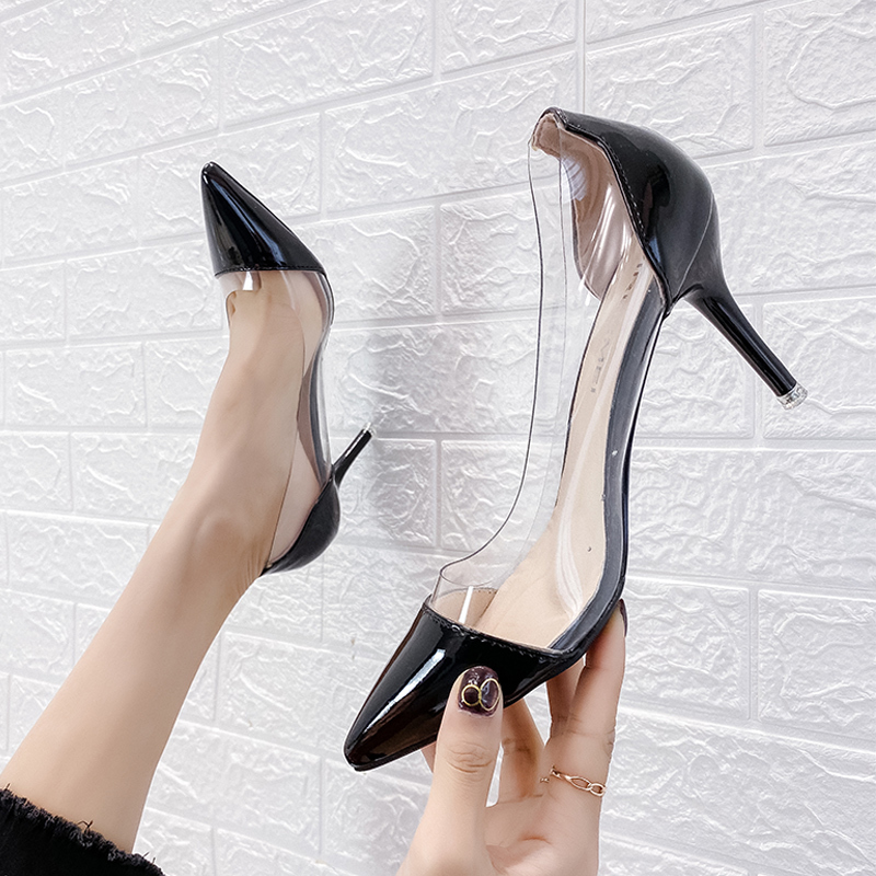 2020 Colored heel fashion women high