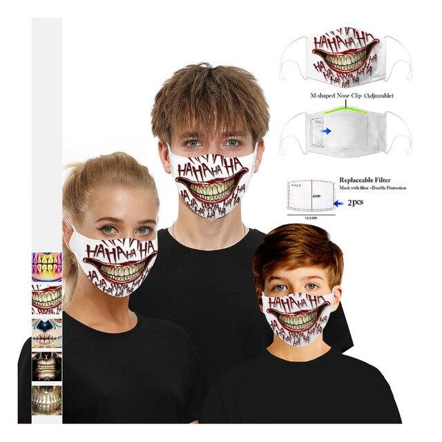 New Adult Mouth Mask Adjust belt Free 2pcs mask filter Big Boy Girl Windproof Washable proof Flu Face masks Care Five layers