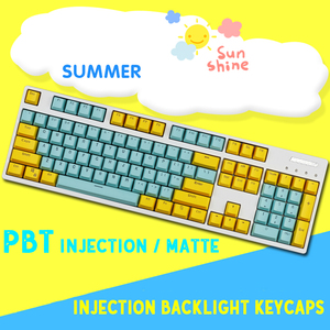 Image 3 - 104/87 Key PBT Double Color Backlight Mechanical Keyboard Keycap Large F Universal Column For Ikbc Cherry MX Mechanical Keyboard