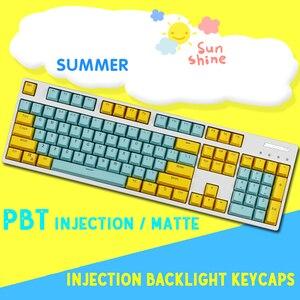 Image 3 - Механическая клавиатура с двойной подсветкой, 104/87 клавиши PBT, Большая универсальная Колонка F для Ikbc Cherry MX, механическая клавиатура