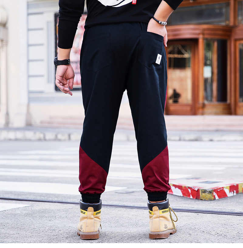 Moda erkek harajuku pantolon pamuk sweatpants erkek joggers hip hop baggy serseri parça kargo uzun pantolon günlük pantolon streetwear
