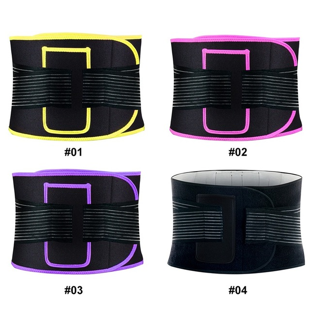 New Waist Belt Adjustable Compression Sweating Slimming Wrap Trainer Exercise Fitness Sportswear Accessories 5