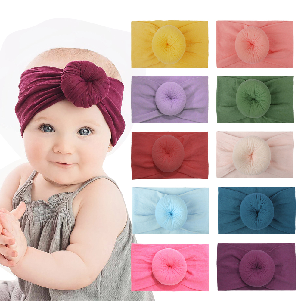 Newborn Infant Kids Girls Nylon Bow Hairband Headband Stretch Turban Knot Head Wrap Headwear Gifts Hair Accessories