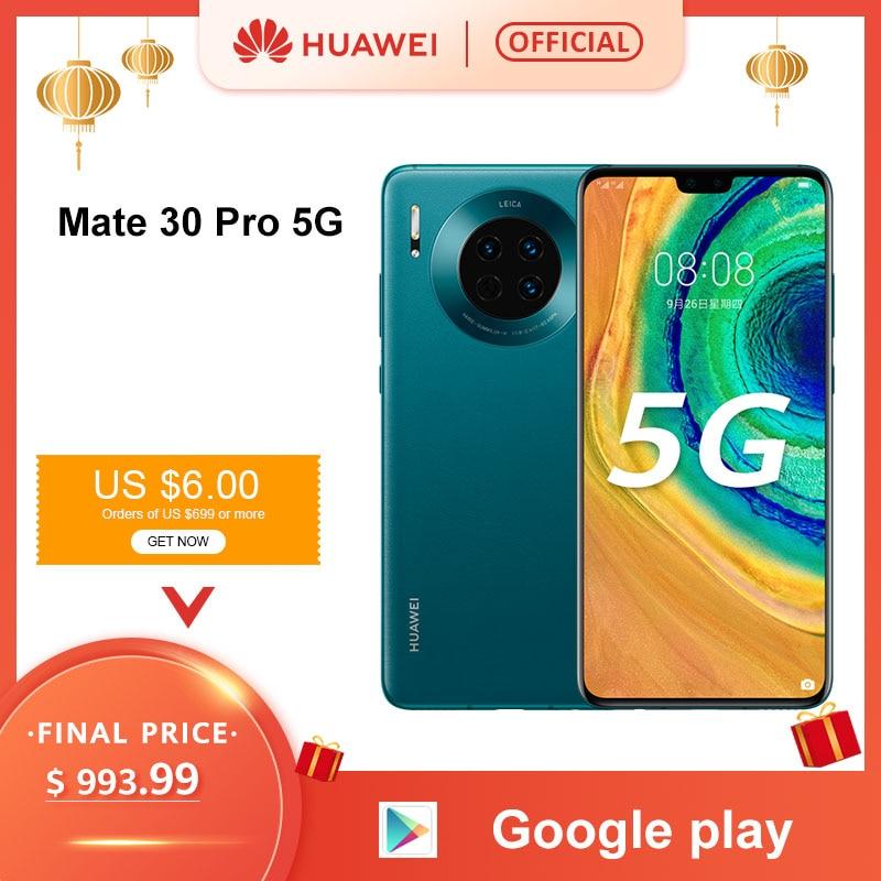 "Original Huawei Mate 30 Pro 5G Smartphone Kirin990 5G 40MP Triple cámaras 32MP cámara frontal 6,53 ""pantalla completa 27W inalámbrico QC"