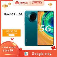 Smartphone d'origine Huawei Mate 30 Pro 5G Kirin990 5G 40MP Triple caméras 32MP caméra frontale 6.53 ''plein écran 27W sans fil QC