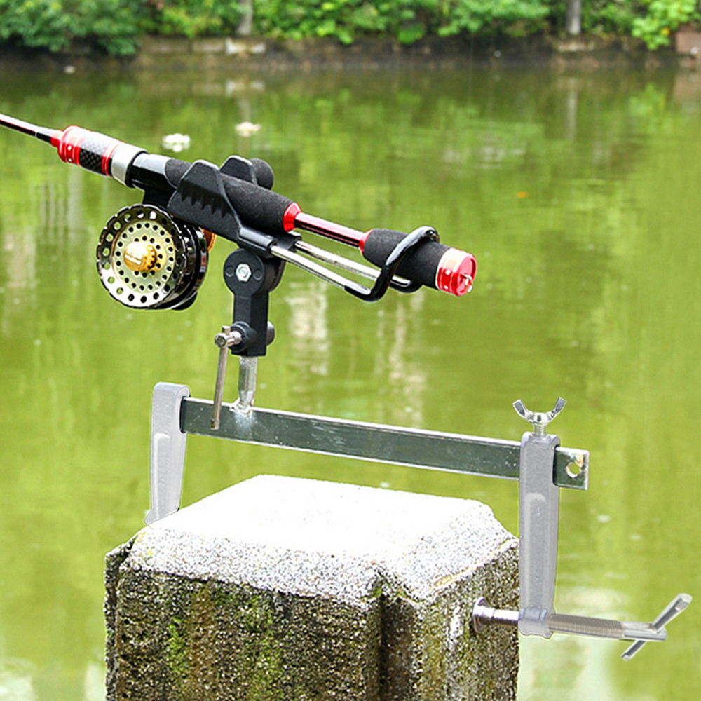 Fishing Rod Holder with Universal Clamp Mount