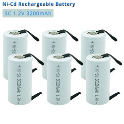 3-20pcs Subc SC 1.2V 3200mAh Rechargeable Battery Cell  with Welding Taps for Drills Battery Bosch Hitachi Electrics