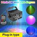 240 вышивка крестом картины RGB сценический светильник USB голос Управление диско светильник вечерние показать лазерный проектор лампа для дом...
