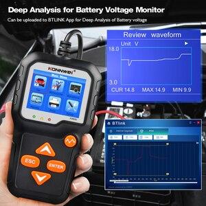 Image 4 - KONNWEI KW650 جهاز اختبار بطارية السيارة ل 6 فولت/12 فولت محلل 100 إلى 2000 CCA سيارة سريعة التحريك شحن اختبار بطارية أداة