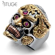 Fashion Men Domineering Skull King Rings Rock Punk Skull Men Ring Jewelry(China)