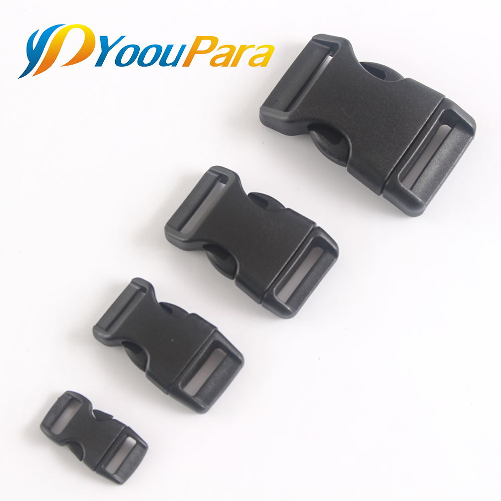 10pieces/lot Plastic Pet Collar Animal Backpack Buckle Paracord Bracelet Buckle Luggage Accessories Buckle 10mm 15mm 20mm 25mm