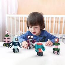 Детские игрушки магнитные роботы планета хранитель набор блоков