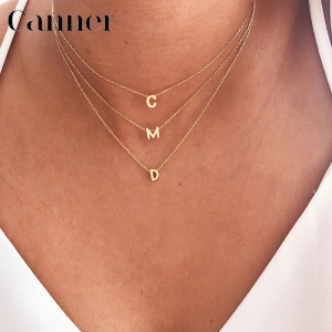 100% 925 Sterling Silver Pendant Necklace English Letters Necklaces Fine Jewelry For Women Girls Daily Accessories collares W3