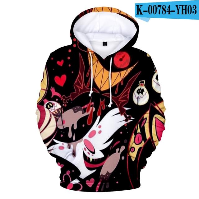 New Animation movie Hazbin Hotel Hell Princess Charlie 3D Hooded sweatshirt Men Women Casual Hip hop Hoodies Clothes