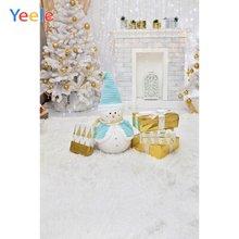 Рождественская елка камин снеговик подарок блестящий домашний