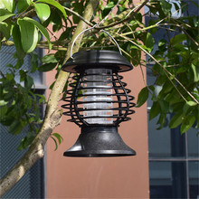 Solar Mosquito Killer Lamp Outdoor Pest Fly Bug Insect Zapper Trap Lamp Hanging Electric Mosquito Killer Lamp Tent Light