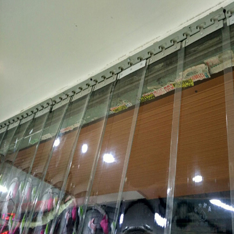 Windproof Door Curtain To Prevent Heating Leakage PVC Transparent Air-conditioning Soft Curtain Hanging Curtains Screen Door