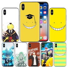 Ansatsu Kyoushitsu Soft TPU Cover Case For Apple iPhone 7 8 6 6S Plus X XS MAX XR 5 5S 5C SE 10 Ten XI XIR XI MAX Capa Funda(China)