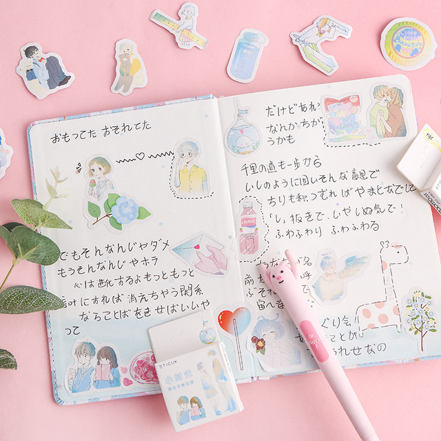 40 Pcs/Pack Kawaii Flowers Pattern Decoracion Diary Christmas Stickers Scrapbooking Stationery Sticker Student Supplies 4