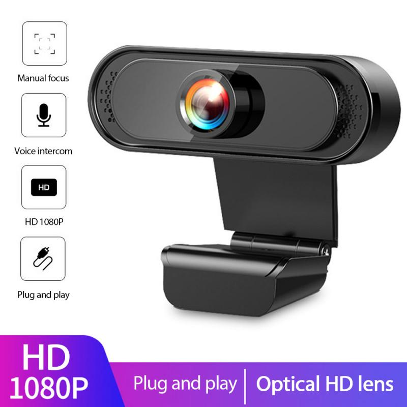 1080P HD Webcam With MIcrophone USB2.0 Web Camera Adjust 30° Angle Of View  For Laptop PC Live Broadcast Video Conferencing