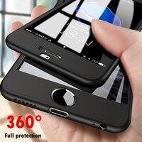 360 grados Delgada funda de teléfono para Xiaomi Redmi 5 Plus Nota 8 Lite SE 4 4X S2 Y2 5X A1 6X A2 MAX 3 con película de vidrio cubierta de protección