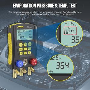 Image 4 - AUTOOL LM120 + klima manifoldu dijital vakum ölçer soğutma HVAC vakum basınç sıcaklık test cihazı PK Testo