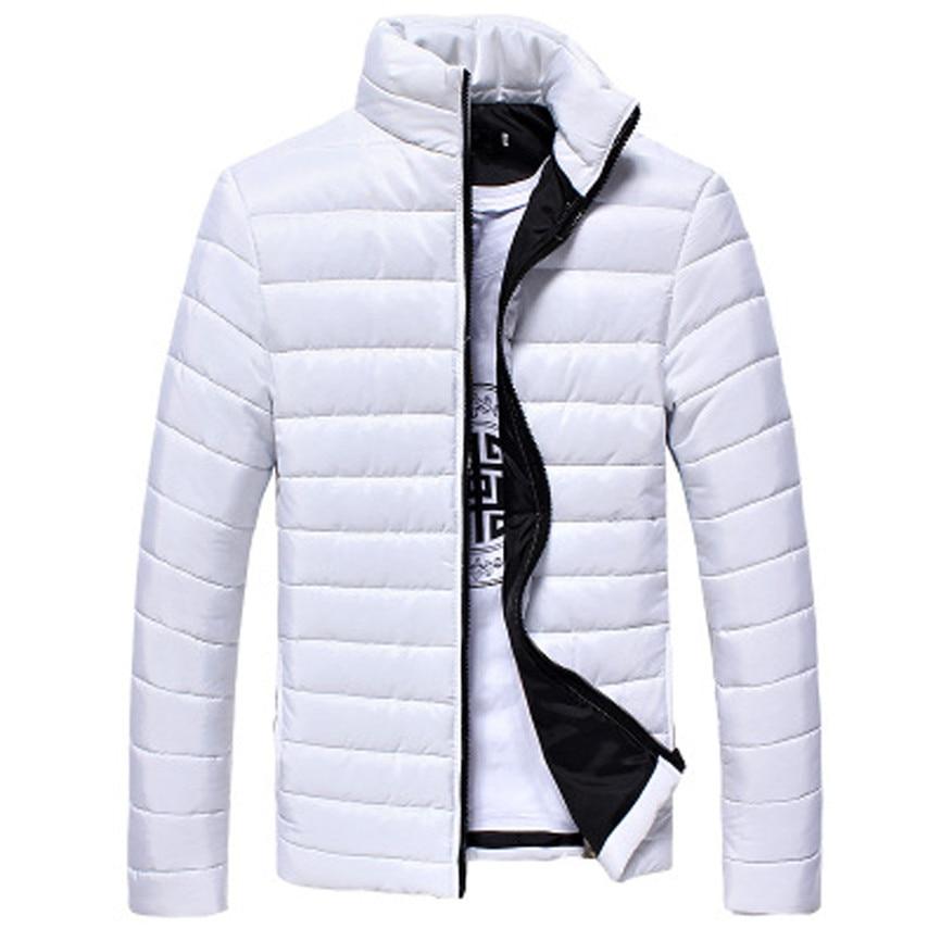 Men's Coats And Jackets Winter Boys Men Warm Stand Collar Slim Winter Zip Coat Outwear Jacket Men's Windbreaker Jackets