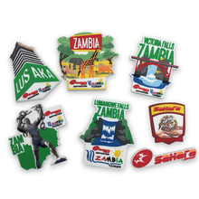 3D Scenic souvenirs for Zambia Soft  PVC Fridge Magnets Promotion gifts Custom LOGO Available