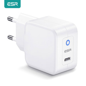 ESR 20W PD Charger for iPhone 12 SE/11/Pro/Pro Max/XS Max/XR Note 20 Ultra 20W Mini PD Charger for iPad Pro 2020 Fast Charging