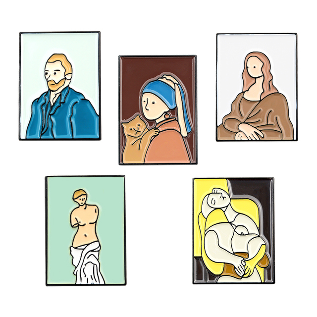 Mona Lisa Enamel Pin