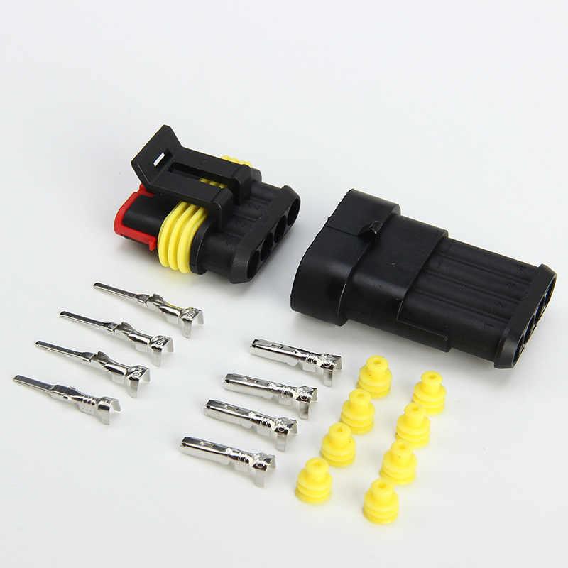 5 Set Kit 2 Pin 1/2/3/4/5/6 Pin Cara AMP Super Seal Tahan Air kawat Listrik 1.5 CONNECTOR Plug untuk Mobil