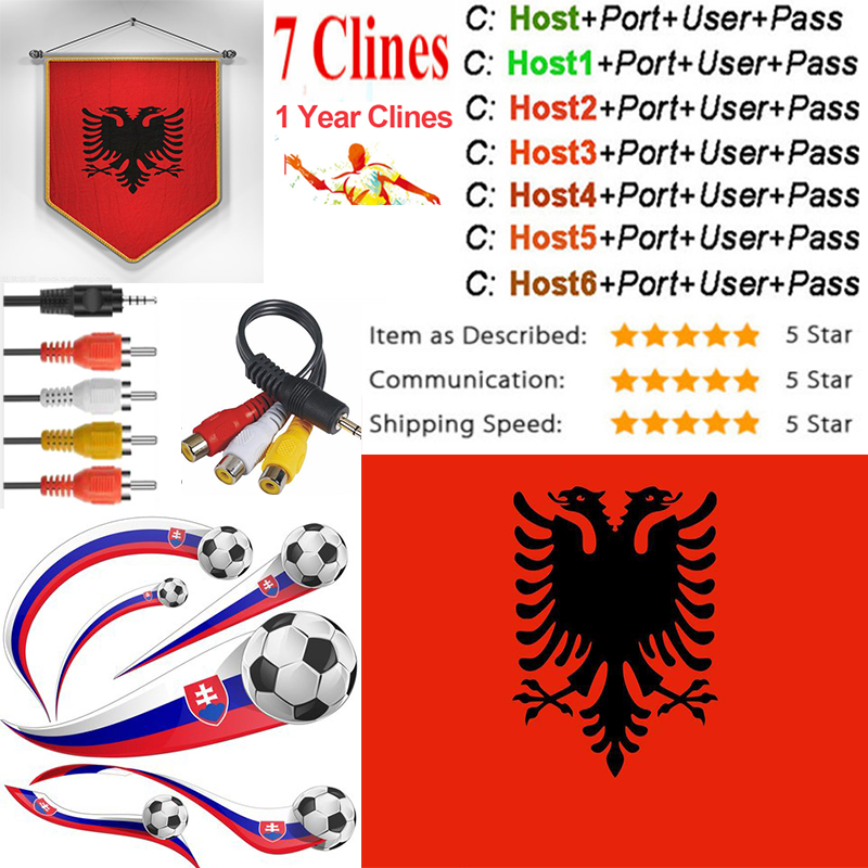 OSCAM Europa Albania Server 1 Year Switzerland Satellite Tv Receiver 7 Clines For DVB-S2 IPS2 X800 X800S V7  V7s V8 Nova V9