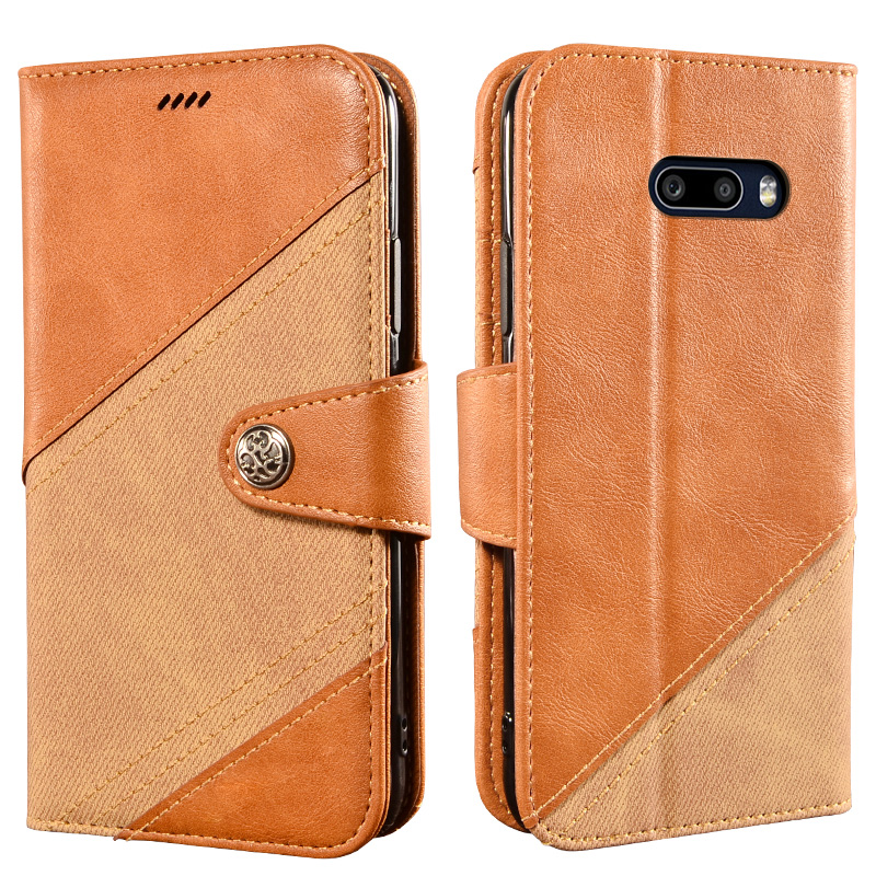 Vintage Phone Case For LG V50S Thinq Case 6.4 Inch Luxury Wallet Flip Magnetic Cover For LG V50S Thinq 5G V510N Case Cross Color